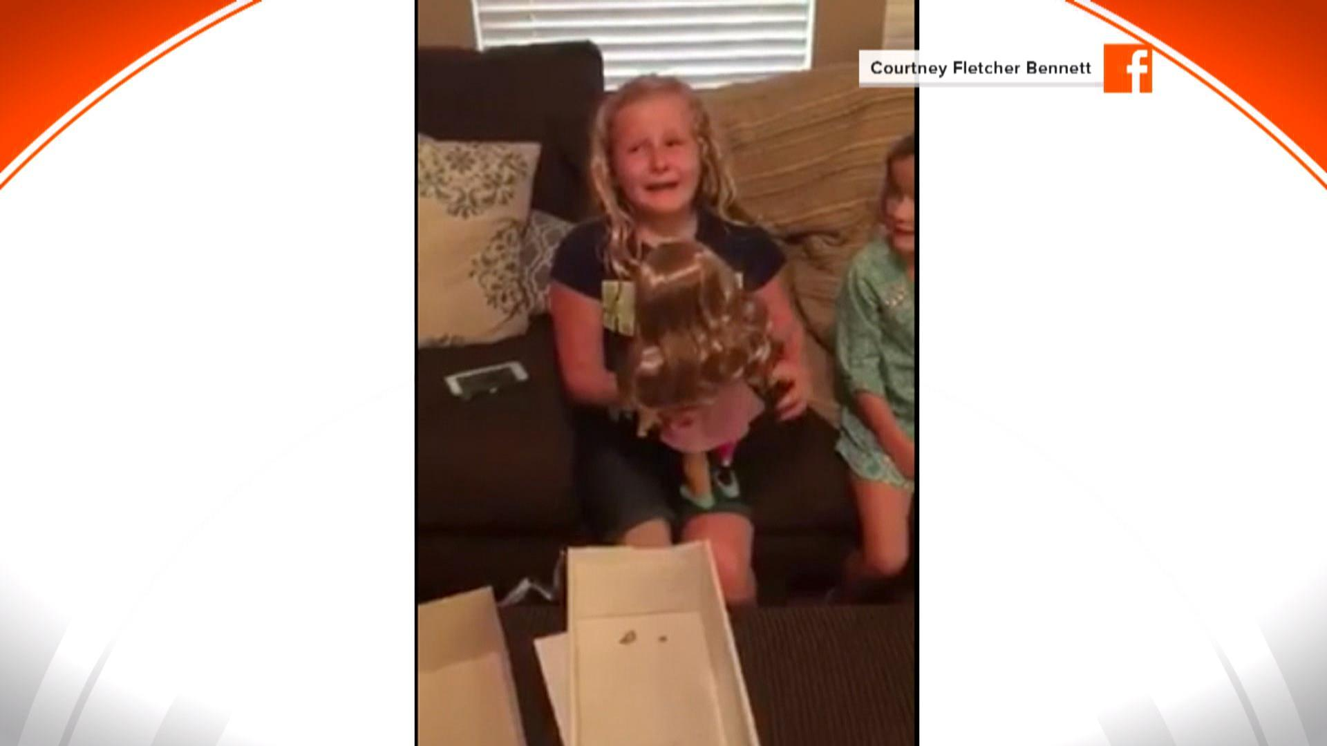 Girl With A Prosthetic Leg Overjoyed To Get A Doll That Has One, Too