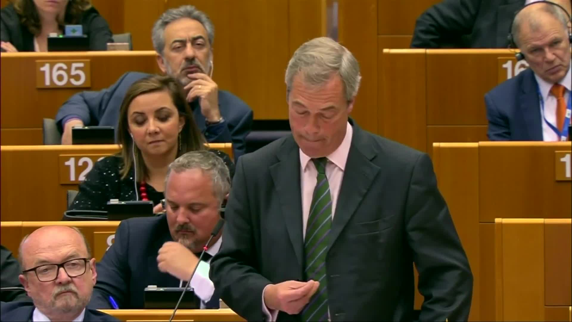 Nigel Farage's 'Victory' Speech To European Parliament Prompts Facepalms All Round