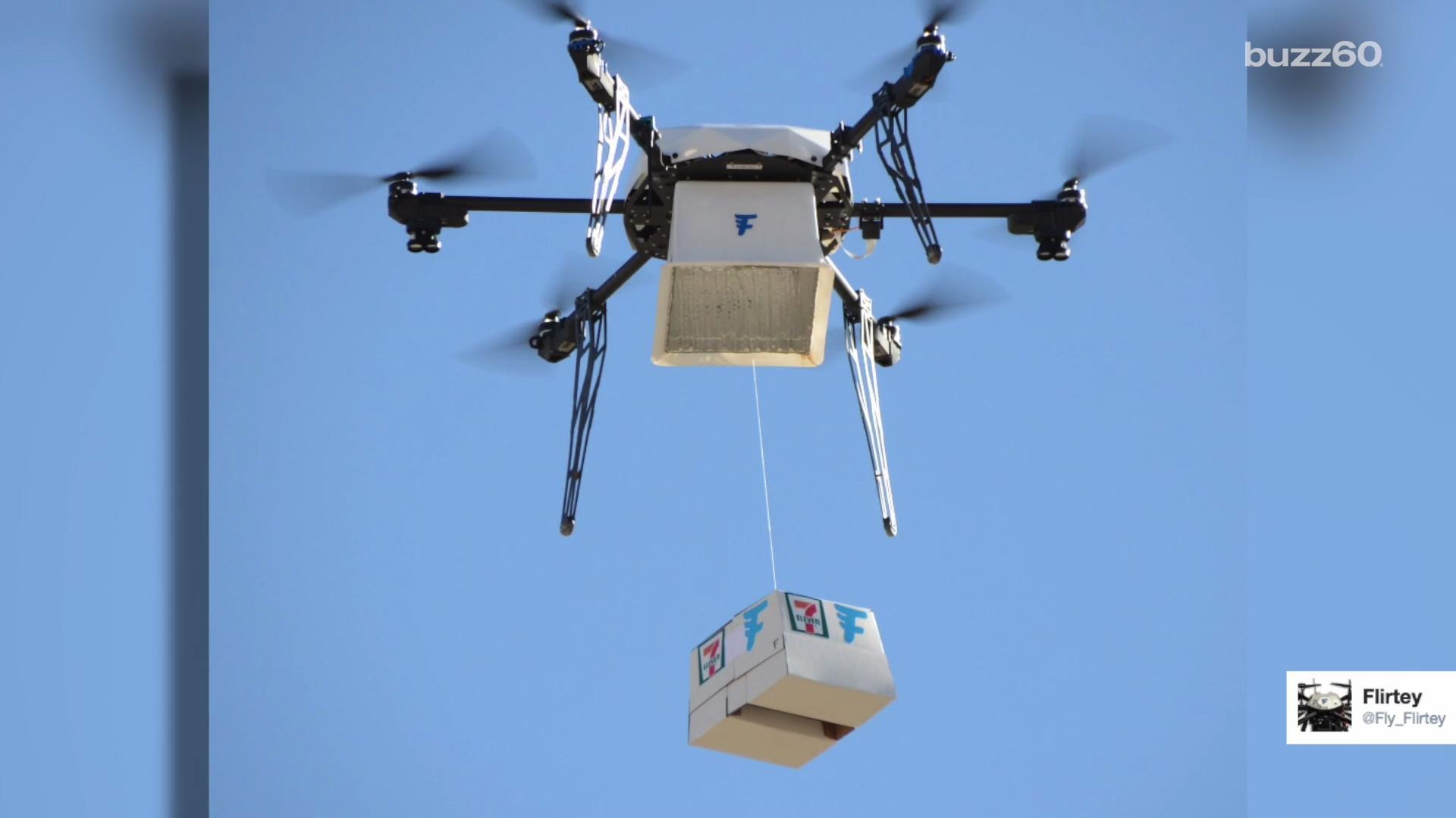 7-Eleven Delivers A Slurpee By Drone, Because We're Living In The Future | HuffPost Life