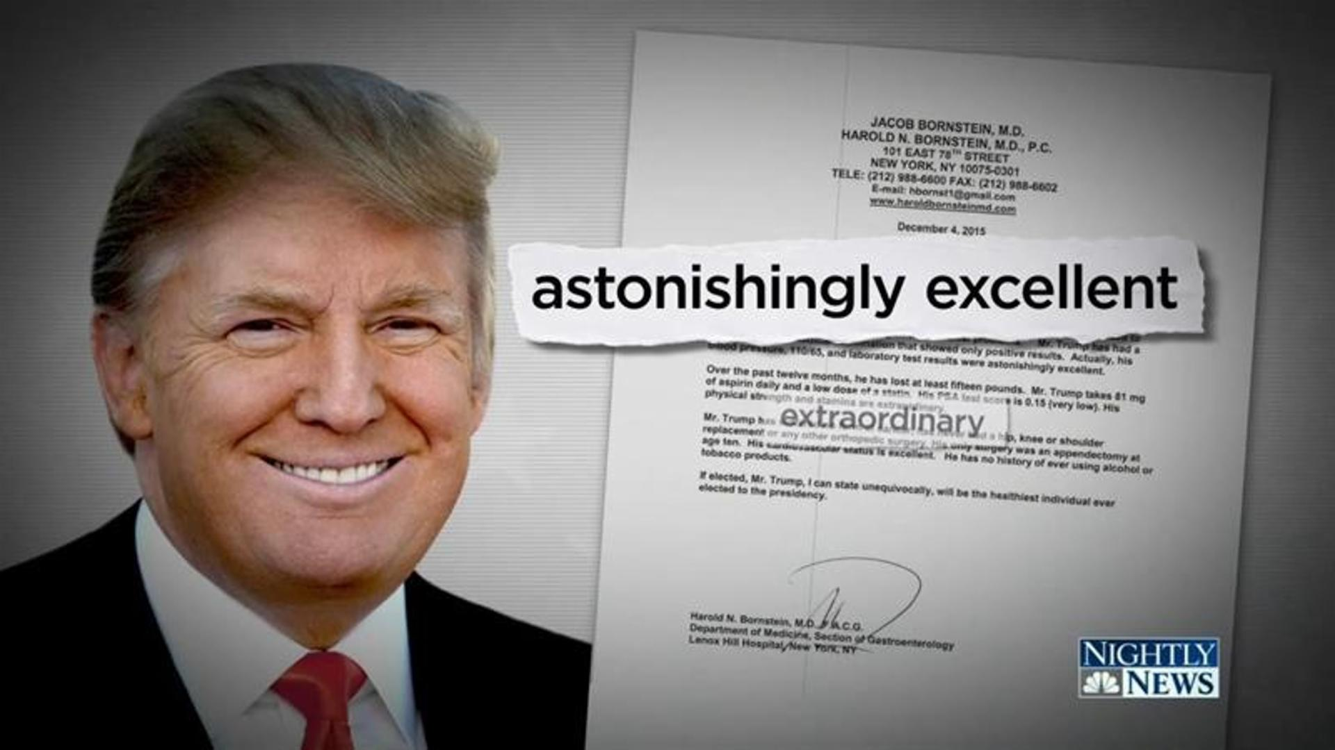 Trump's Doctor Has An Amazing Explanation For That Bizarre Medical Report