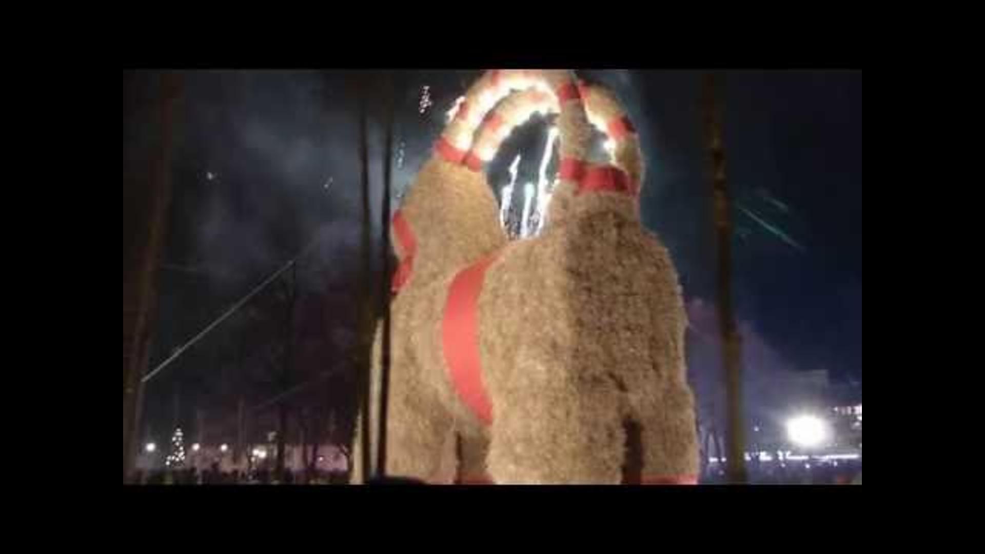 Some Jerk Burned Down Sweden's Giant Christmas Goat... Again