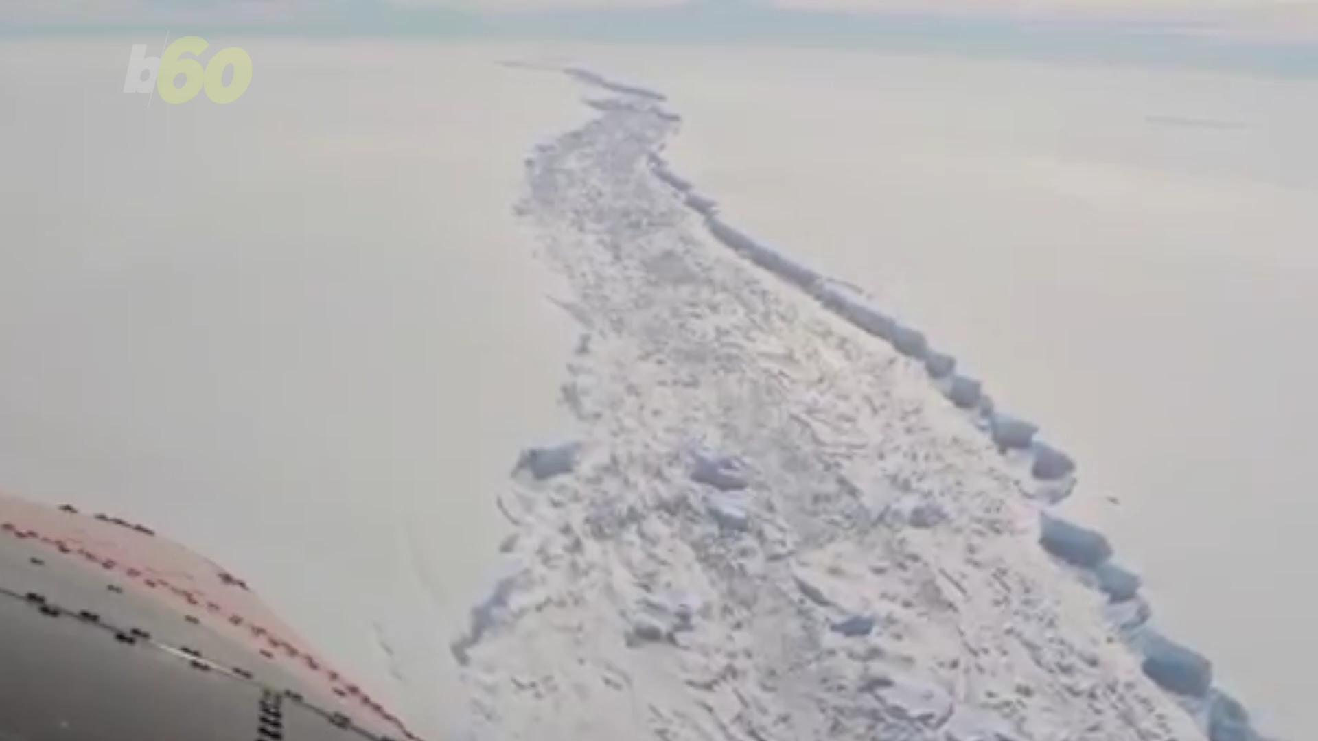 Larsen C: Footage Reveals Crack In Antarctica Is Now As Wide As Shard Is High