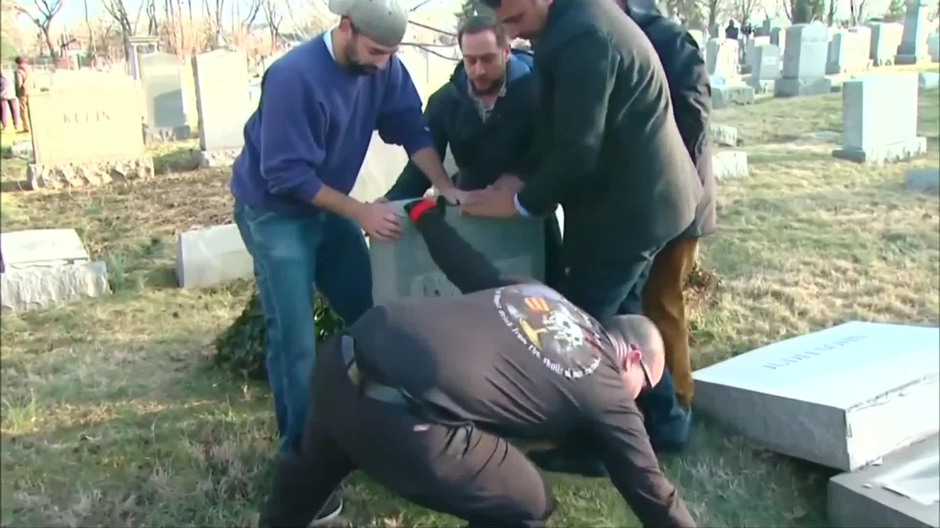 Muslim Activists Promise To Help Rebuild Second Vandalized Jewish Cemetery