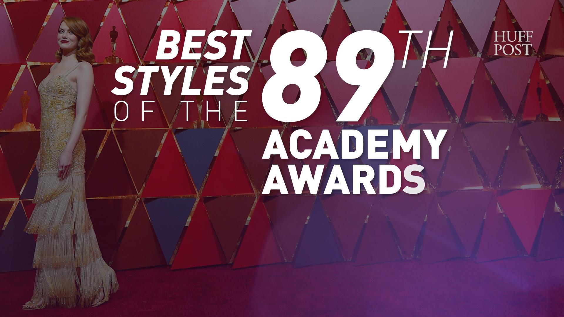 Emma Stone's 2017 Oscars Dress Shines Bright Among A City Of Stars