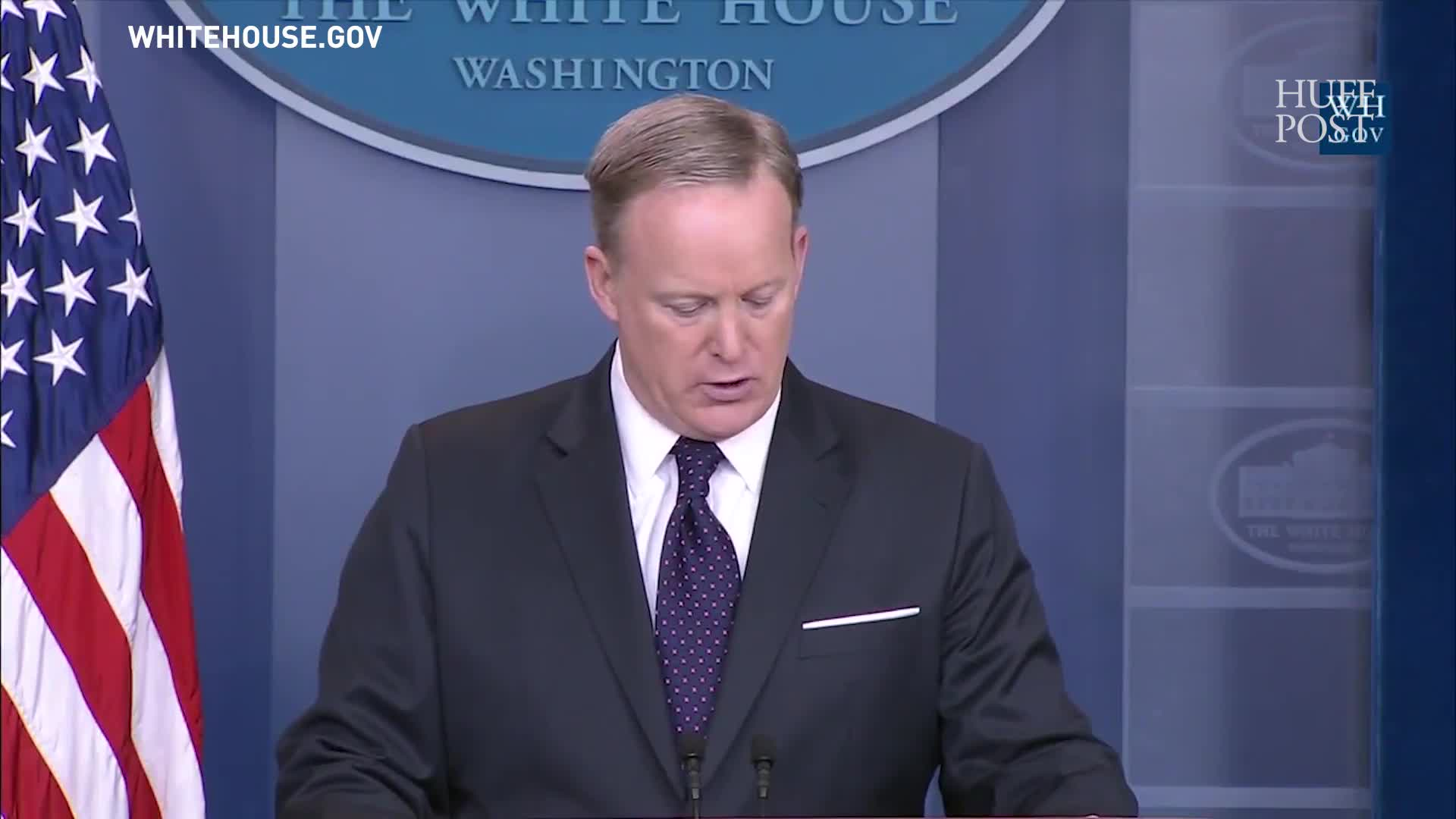 Sean Spicer, With Straight Face, Says Trump Is 'Committed To Empowering Women'