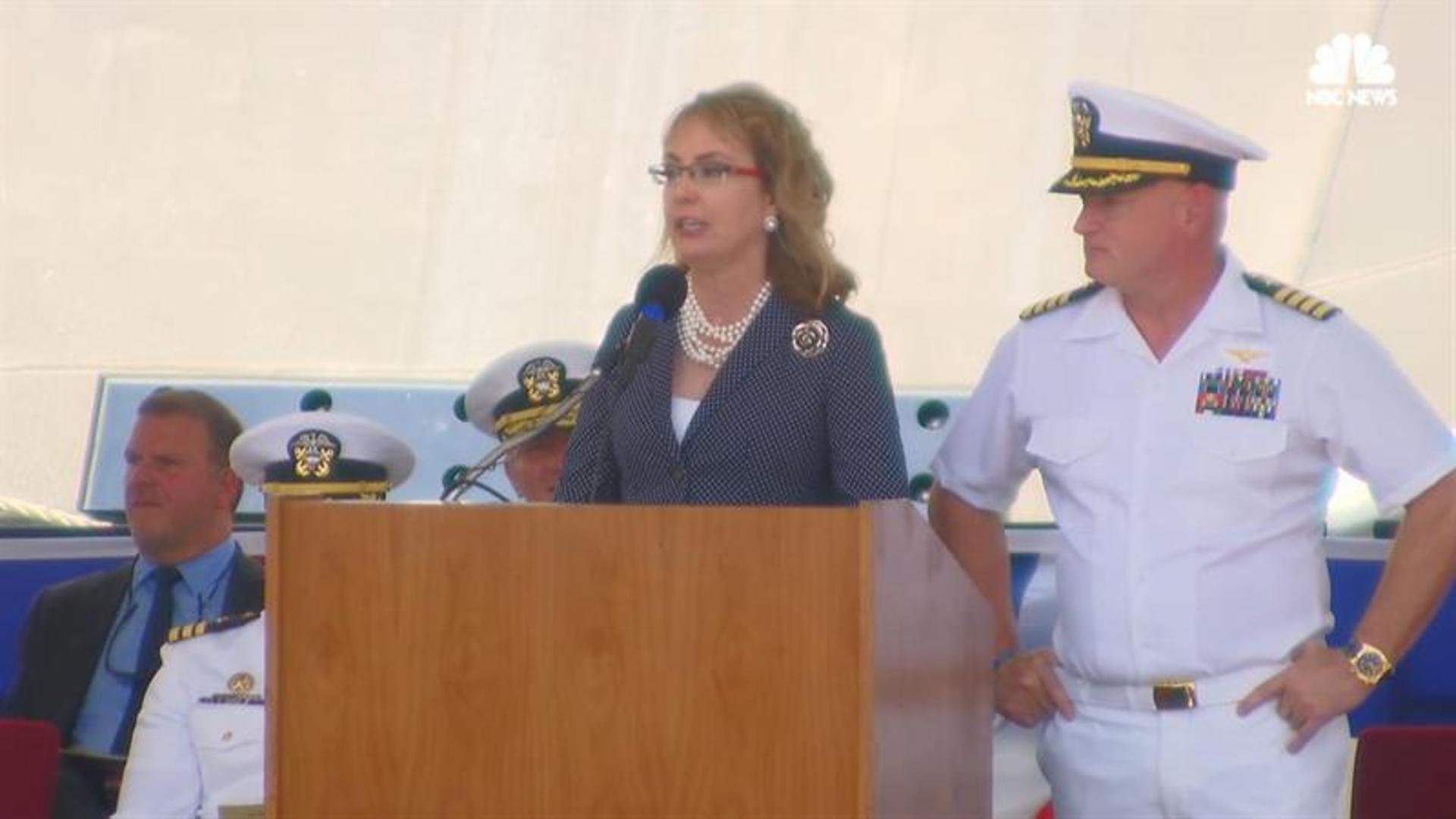Navy Ship Named For Gun Violence Survivor Gabrielle Giffords Commissioned