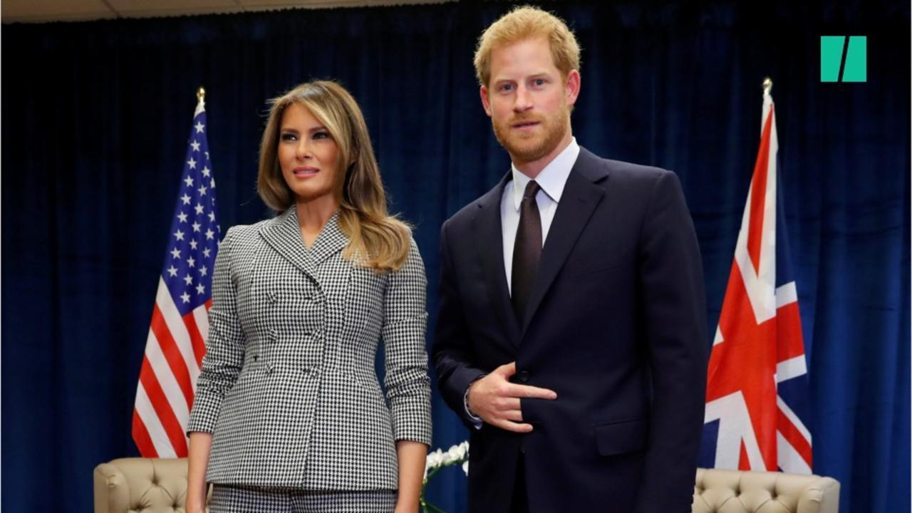 Les experts en langage corporel expliquent la pose étrange de Prince Harry avec Melania Trump