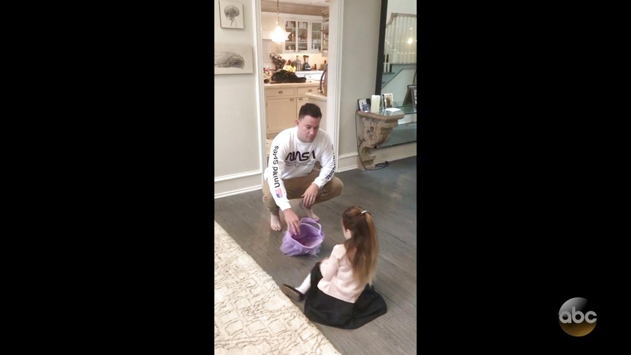 Channing Tatum's Daughter Reacts Adorably To Jimmy Kimmel's Halloween Candy Prank | HuffPost Life