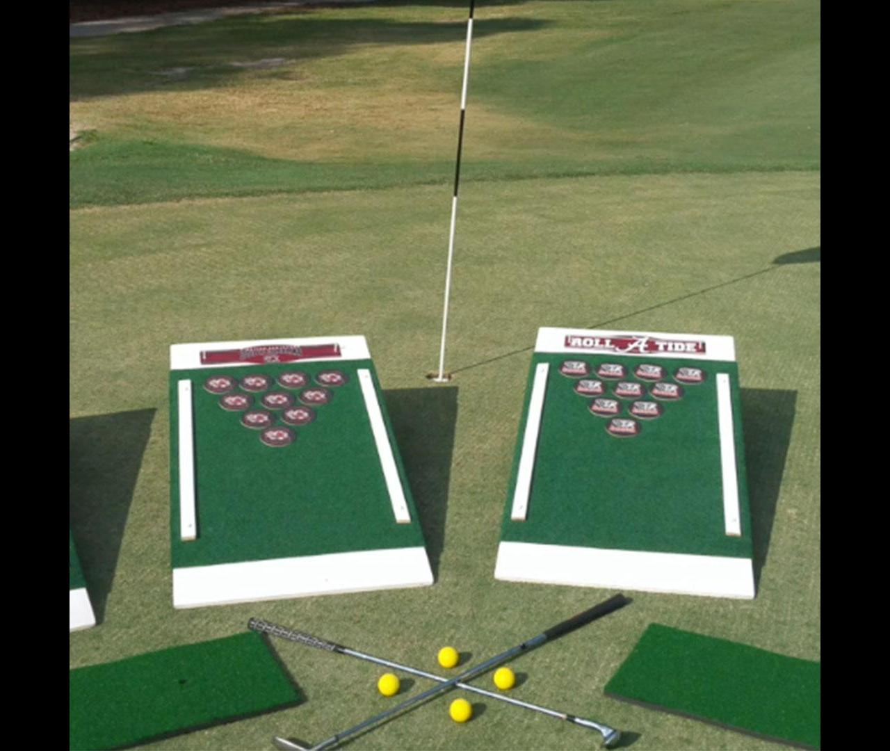 This game that combines beer pong and golf is perfect for your next tailgate