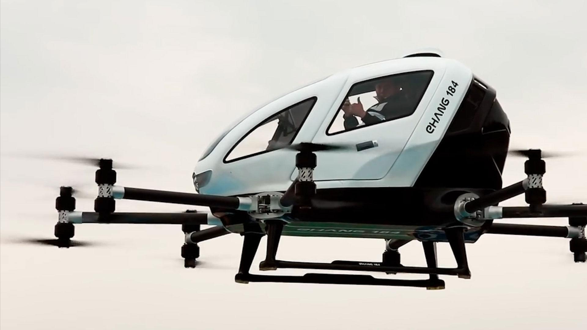 Ehang's 184 Passenger Drone Takes To The Skies In Remarkable Footage