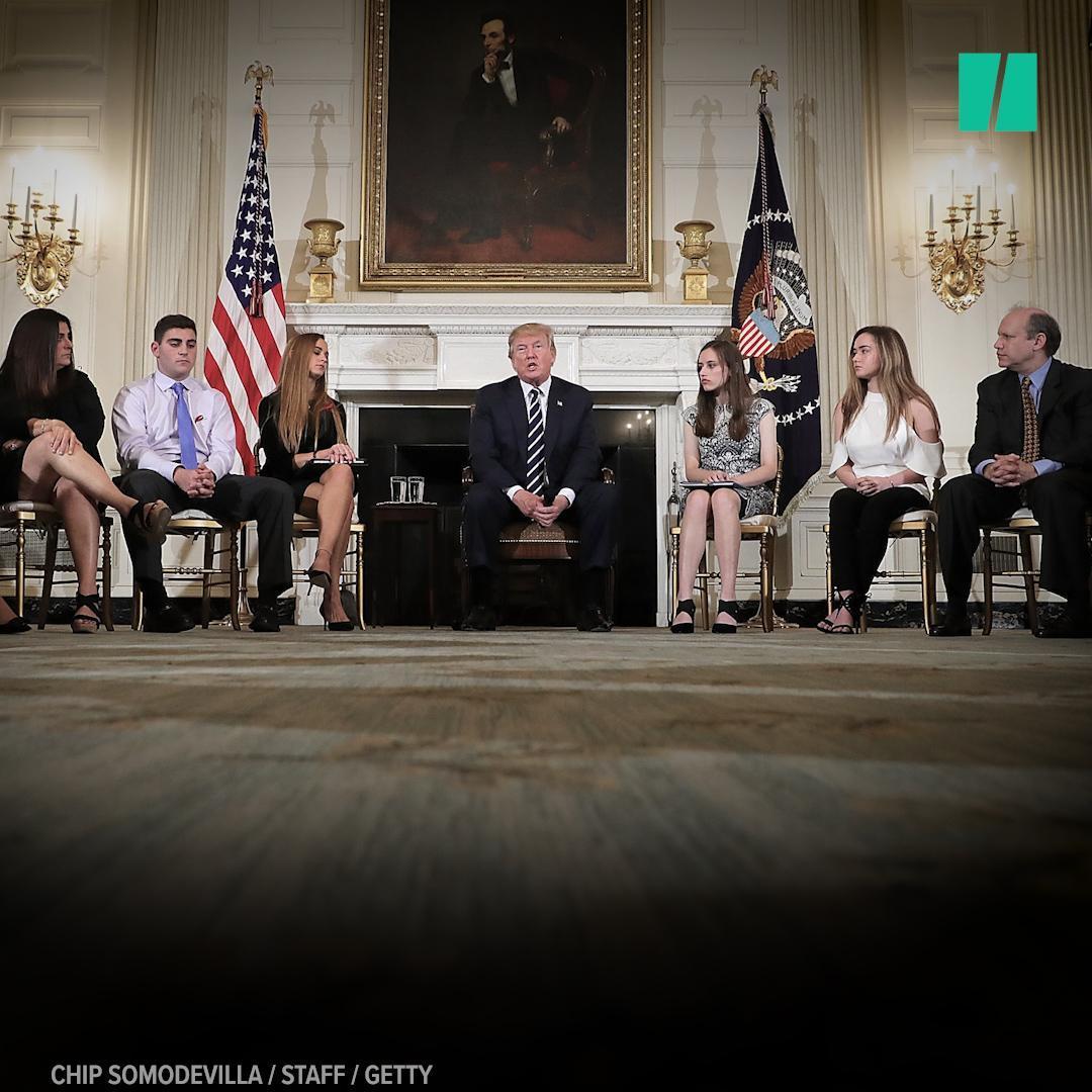 Trump Needs Reminder To Listen To Parkland Survivors In 'Listening Session'