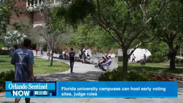 In Searing Ruling, Judge Says Florida Can't Block Campus Early Voting