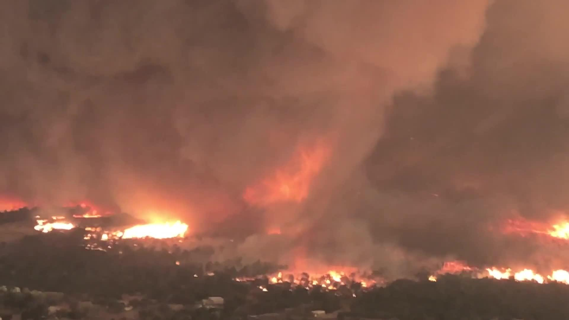 California Officials Release Terrifying Video Of Wildfire 'Tornado'
