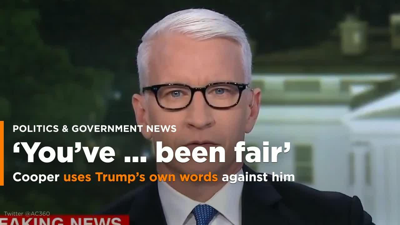 Anderson Cooper Compares Trump's Fake Reagan Quote To The Weirdest Fetish Ever