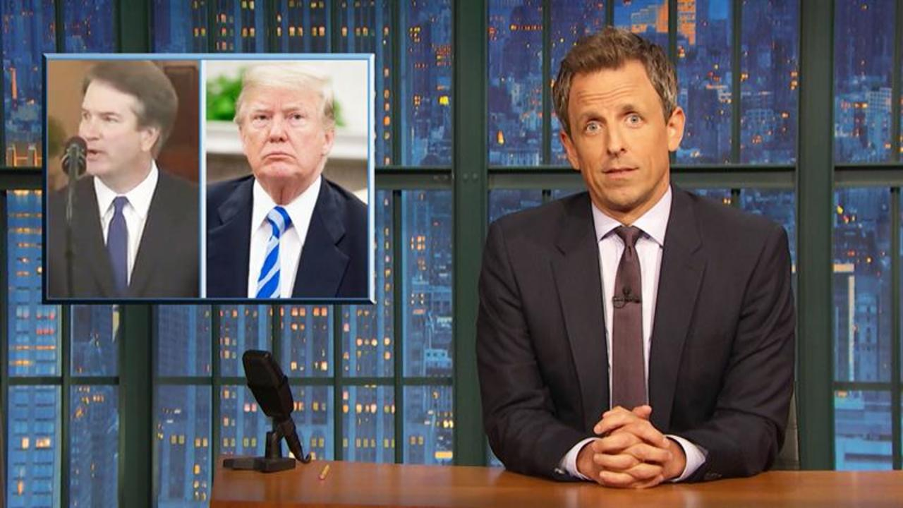 Seth Meyers' Takeaway From Trump's 'Super Weird' North Carolina Visit Is Spot On