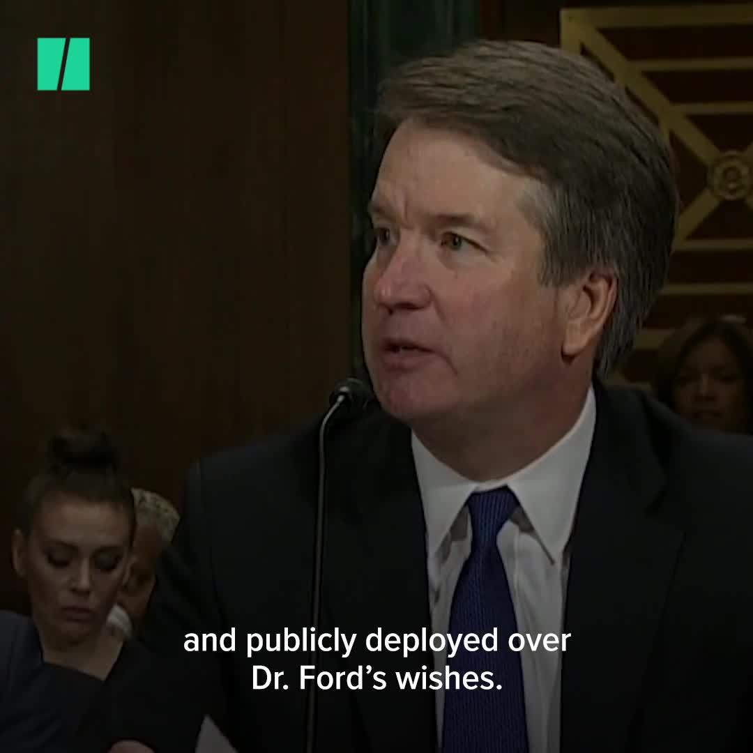 Brett Kavanaugh Plays The Victim