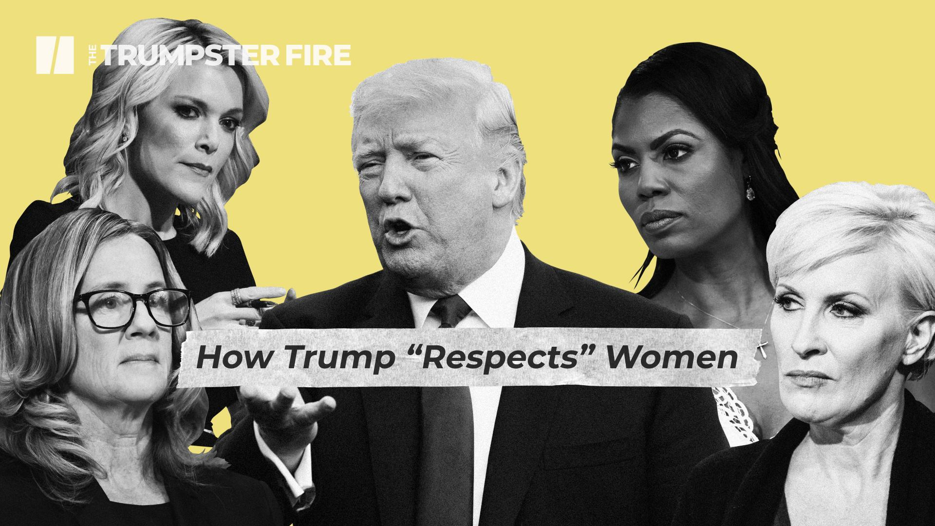On A Train Wreck Day For Trump, 'Women For Trump' Tries To Spin An Alternative World