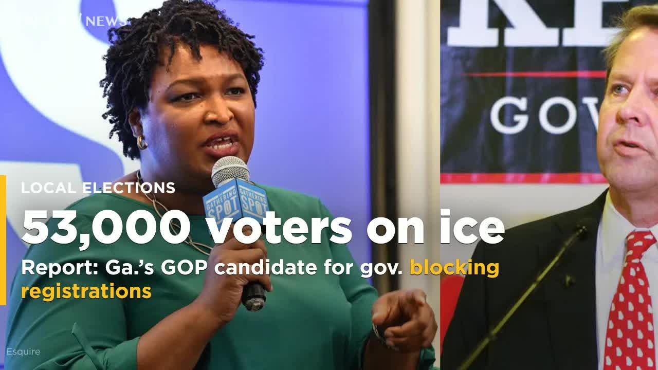 Image result for photos of brian kemp stacey abrams