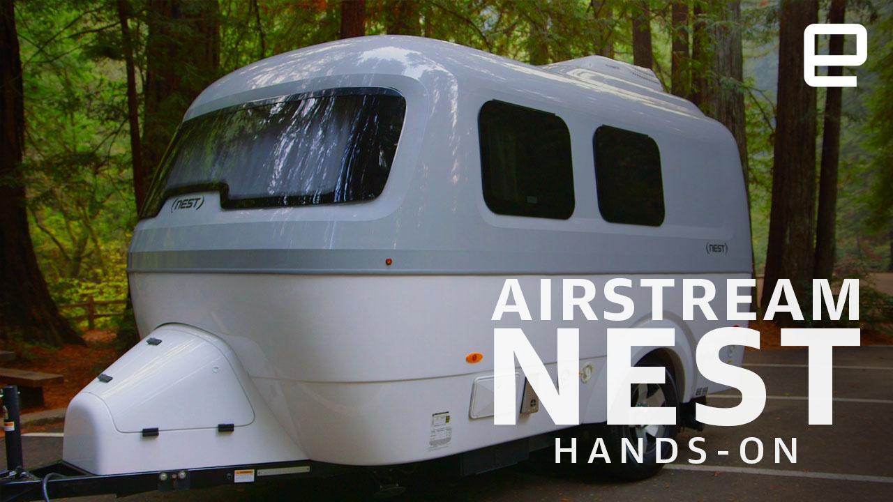 Airstream's Nest is a cozy, futuristic trailer