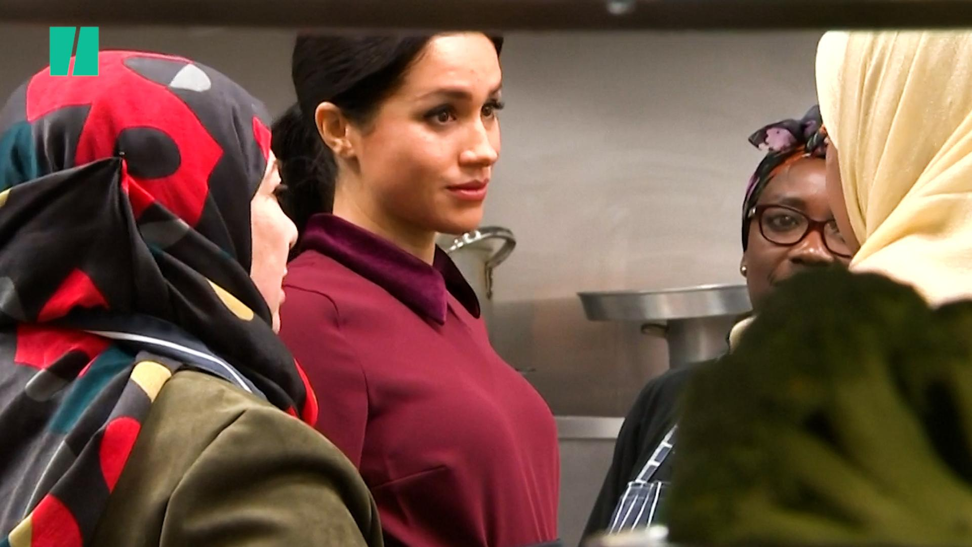 Meghan Markle Cooks With Grenfell Survivors At Community Kitchen