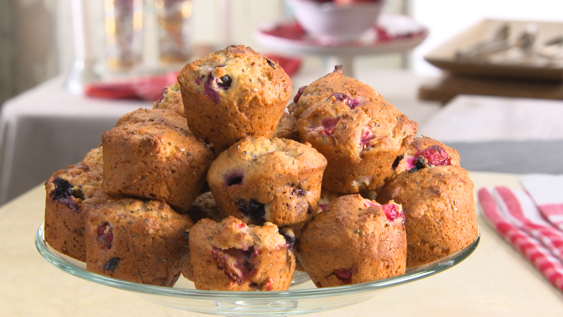 Best Bites: Healthy holidays triple berry chia seed muffins