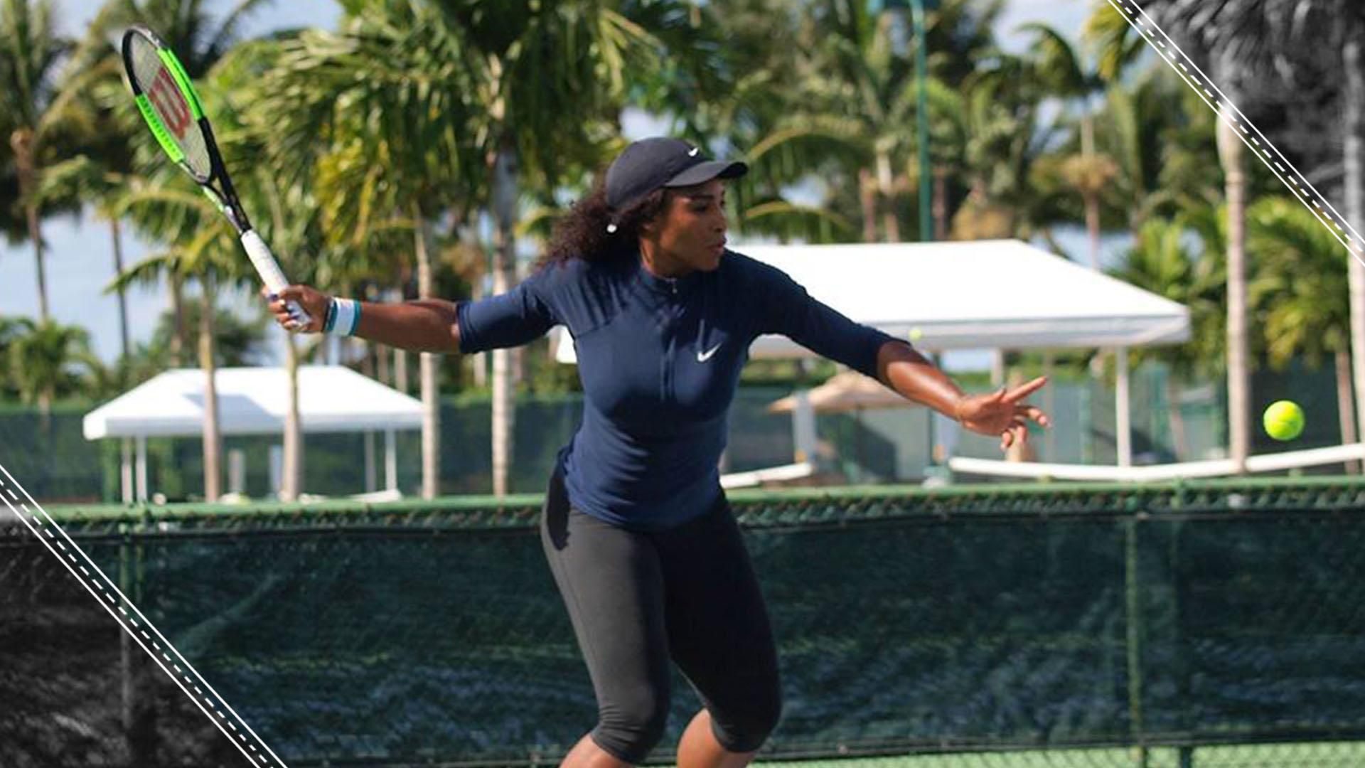 Serena Williams' Daughter Did The Cutest Thing Watching Her Mom And Aunt Venus Williams Play Tennis