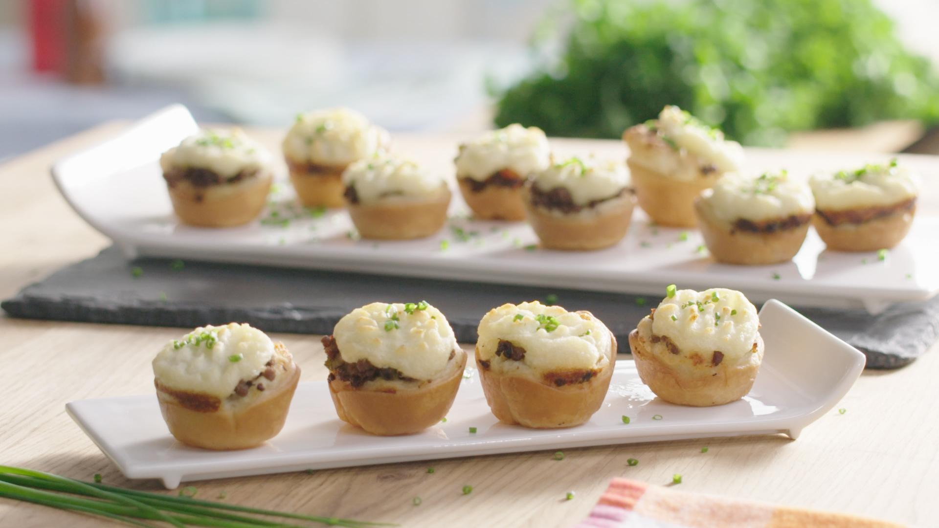 Cozy up on the couch this winter with these mini shepherd's pies