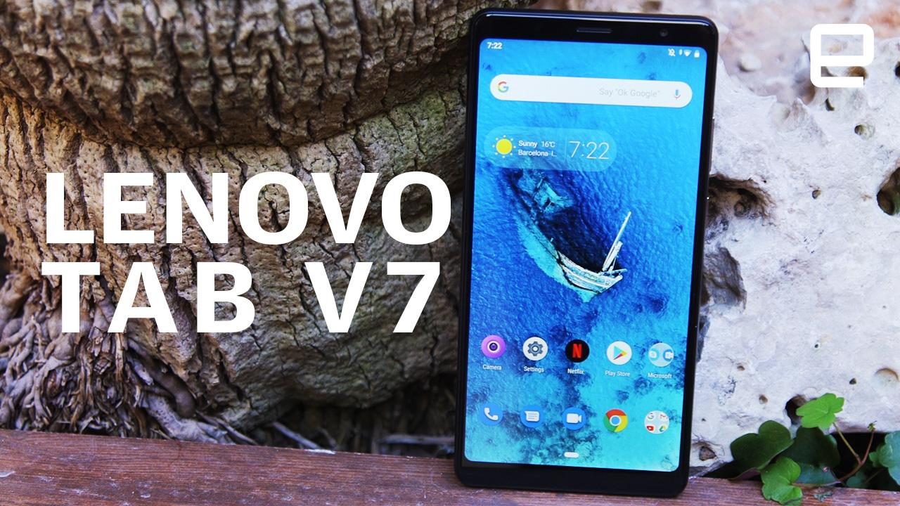 Lenovo Tab V7 hands-on: Big, loud and practical
