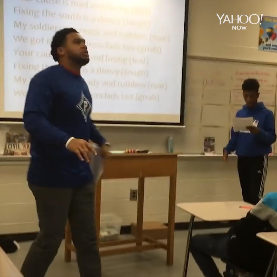 Social studies teacher remixes the hit song 'Bad And Boujee' into a history lesson