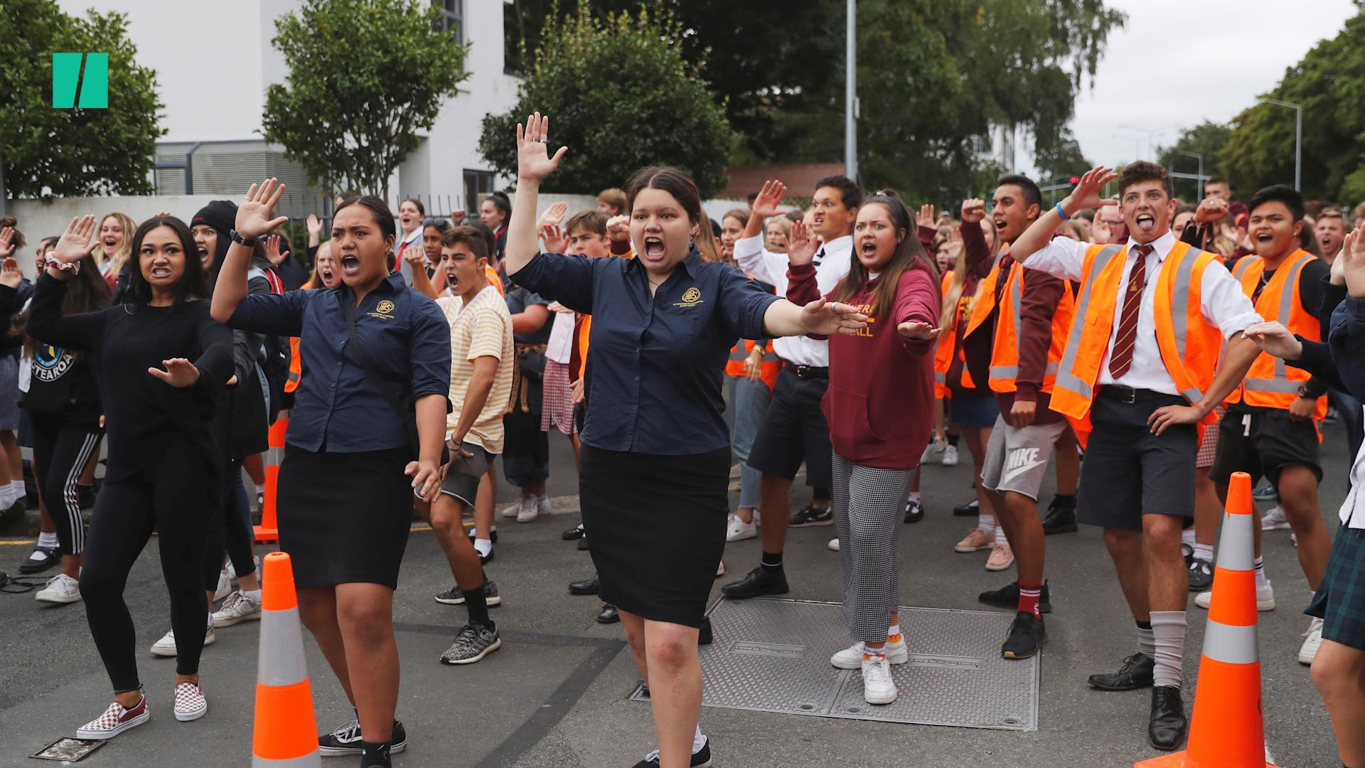 Christchurch Students Perform Haka Dance To Honor New Zealand Shooting Victims