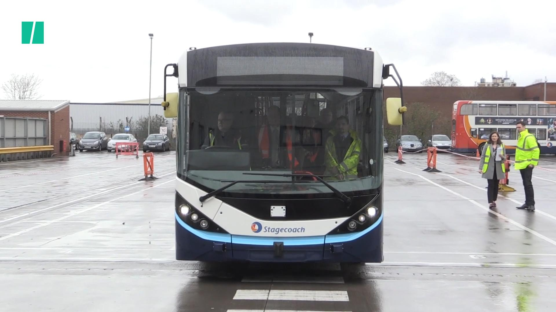 First UK Driverless Bus Tested In Manchester
