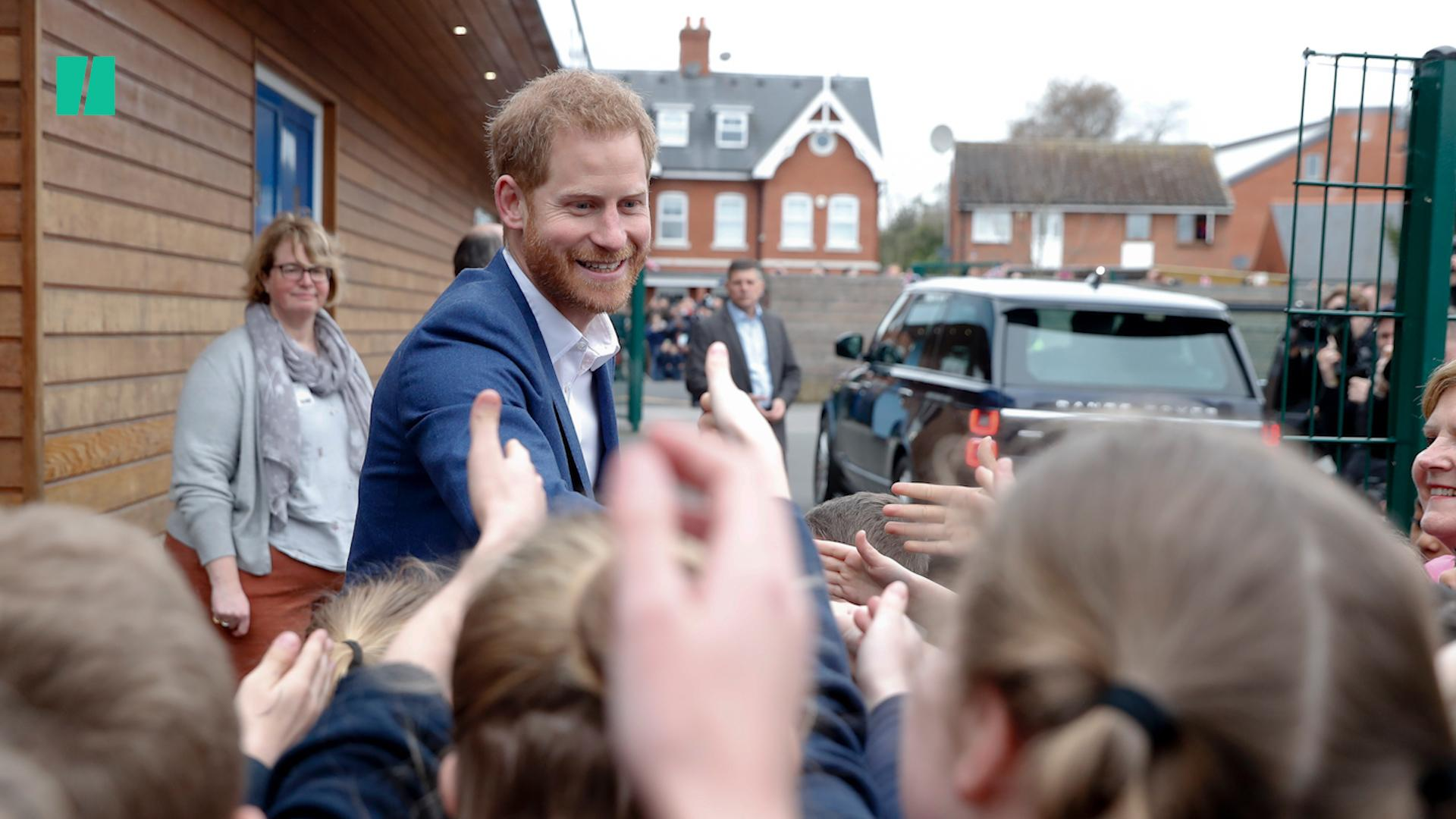 Prince Harry Plants Tree With Children At West London School