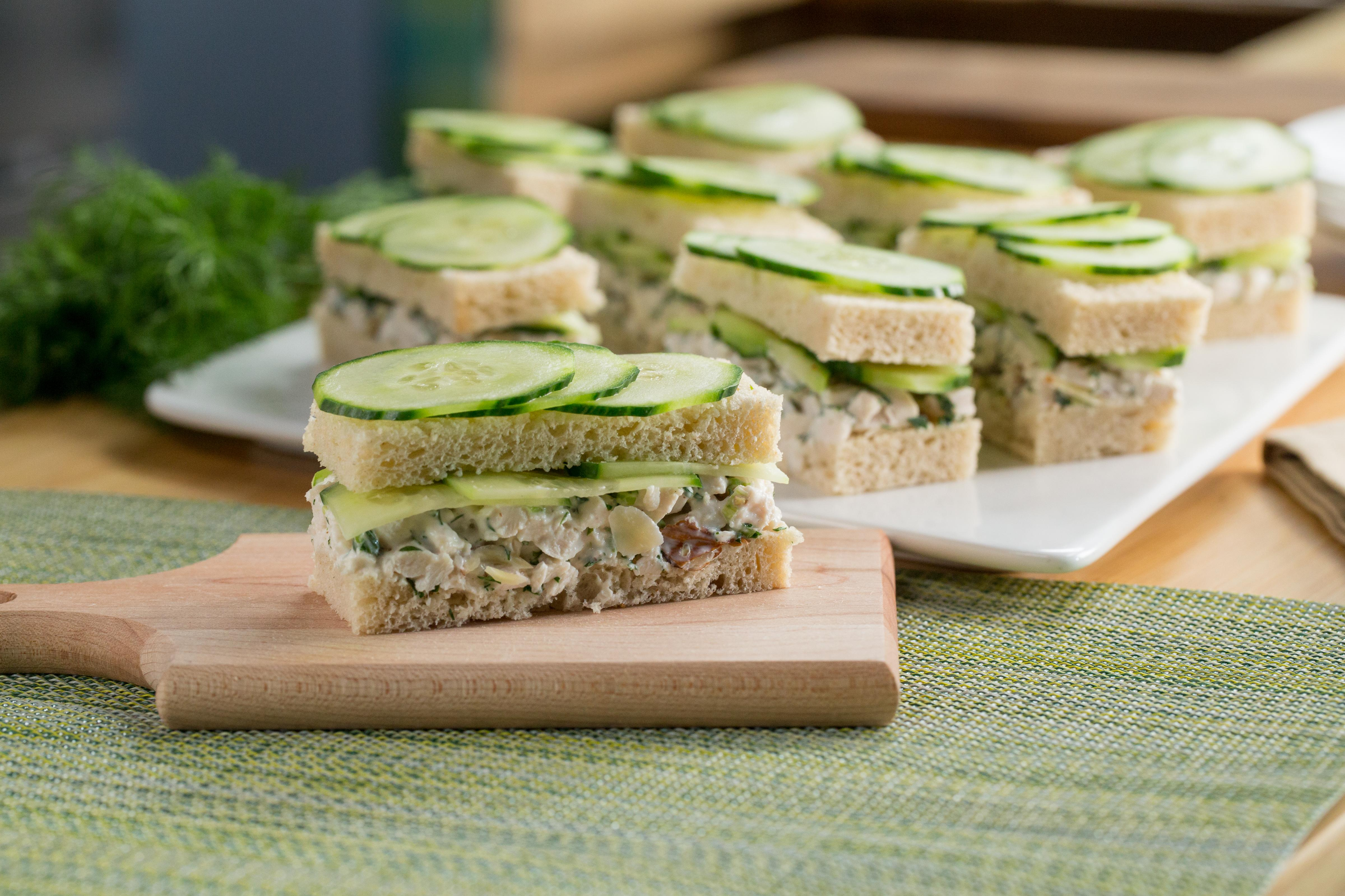 Throw a tea party and make these herby chicken salad sandwiches
