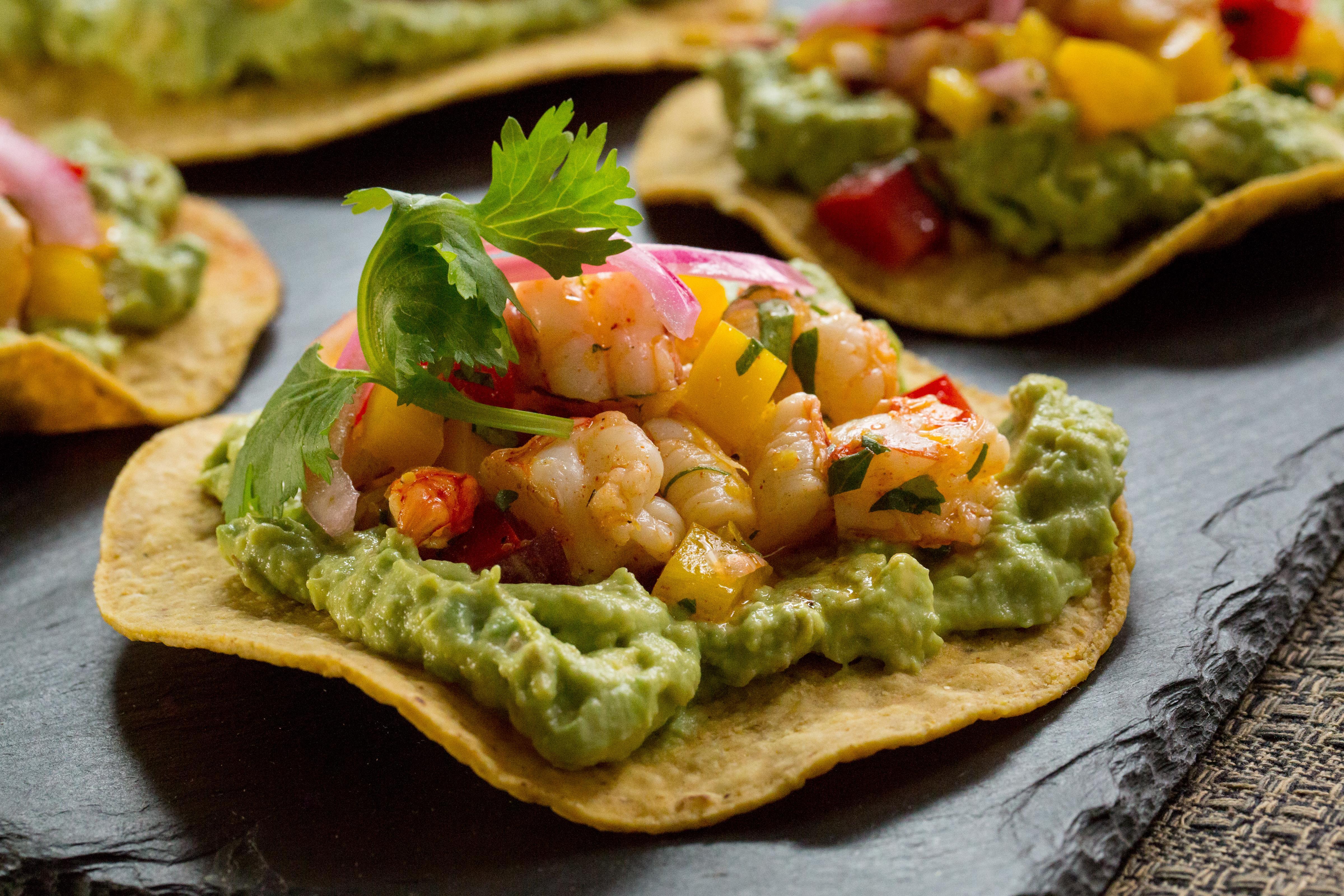 Shrimp tostadas are an easy-to-make crowd-pleaser