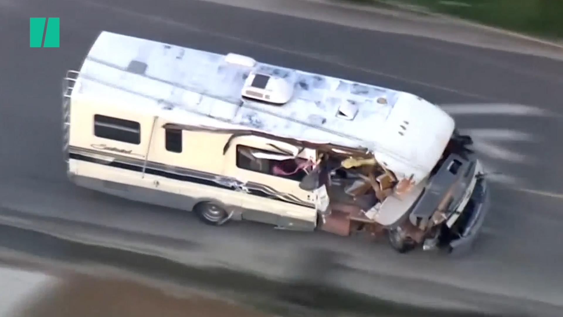 Stolen Motorhome Goes For A Bumpy Ride In Los Angeles
