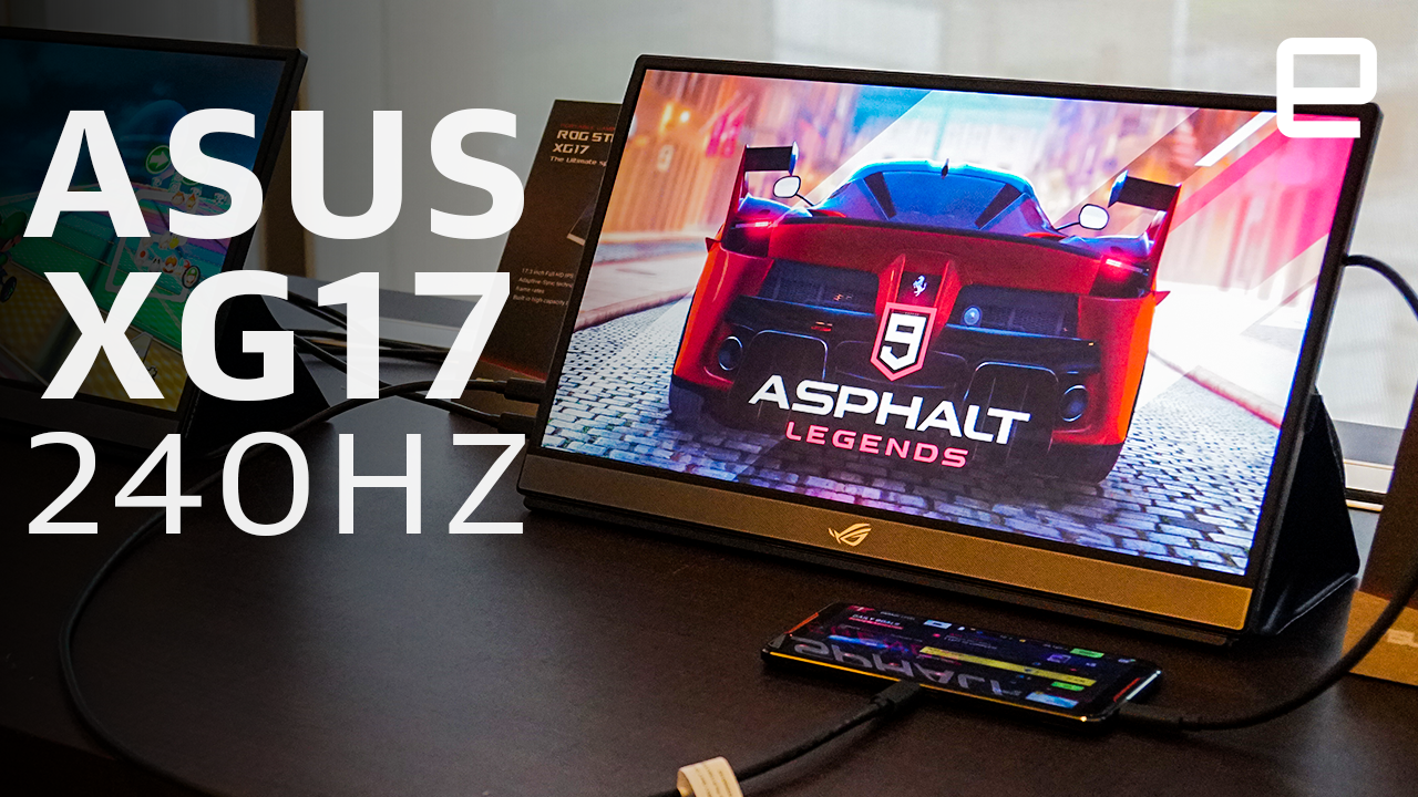 ASUS made the world's first 240Hz portable monitor for gamers