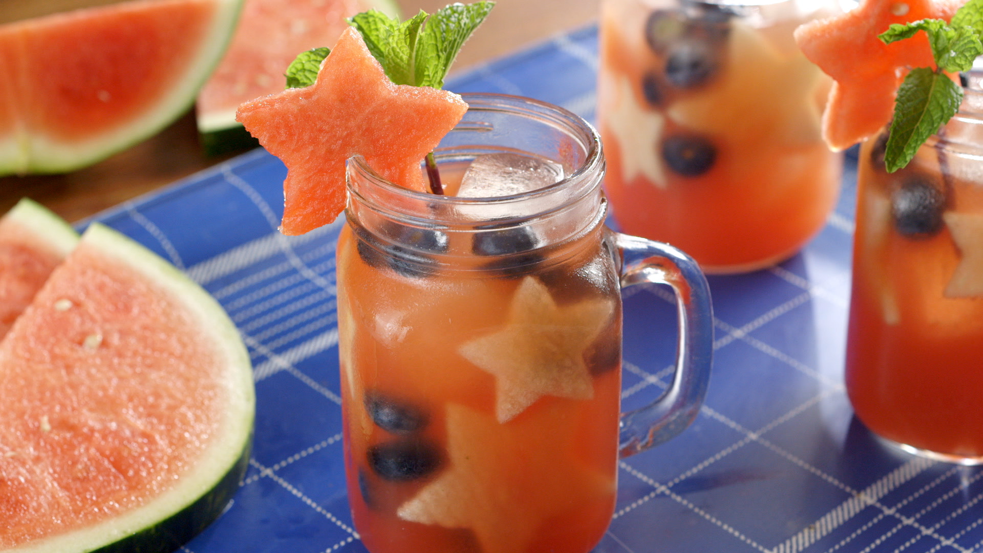 How to make a patriotic basil watermelon smash cocktail