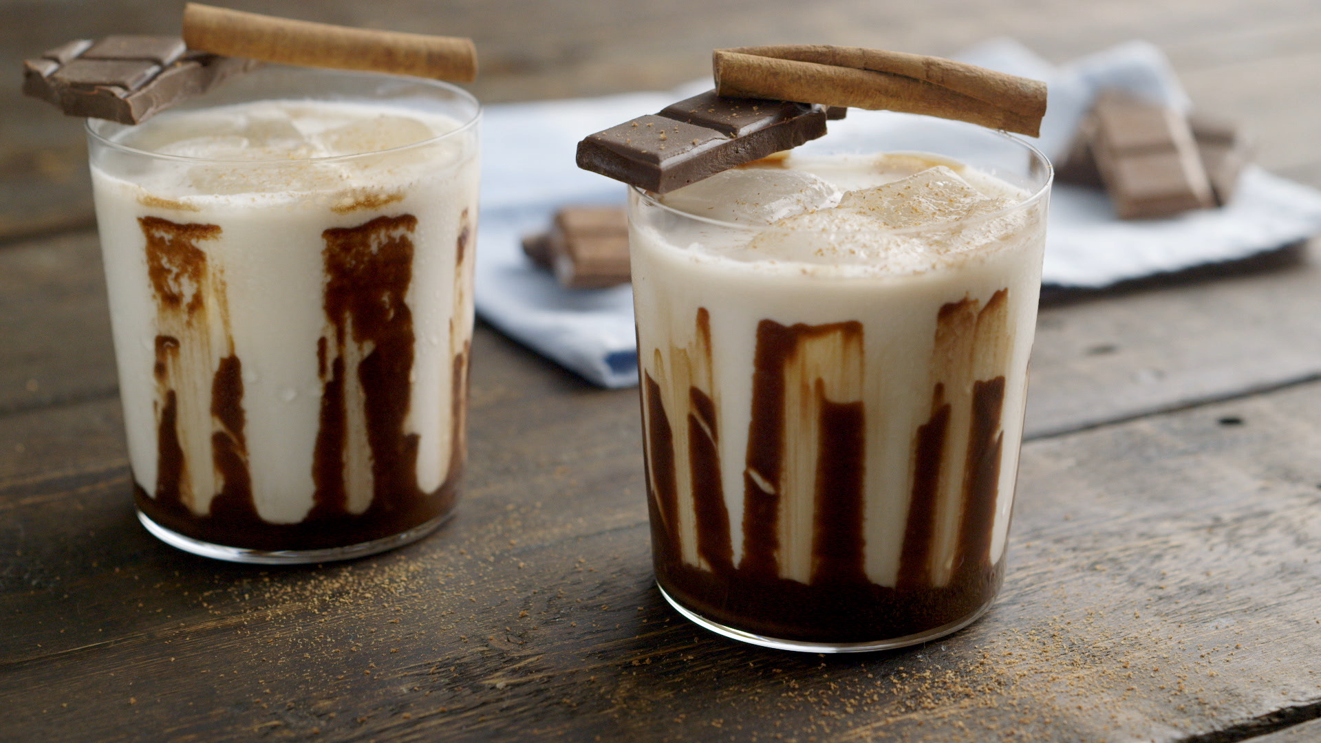 This creamy white Russian cocktail is made with a chocolate twist