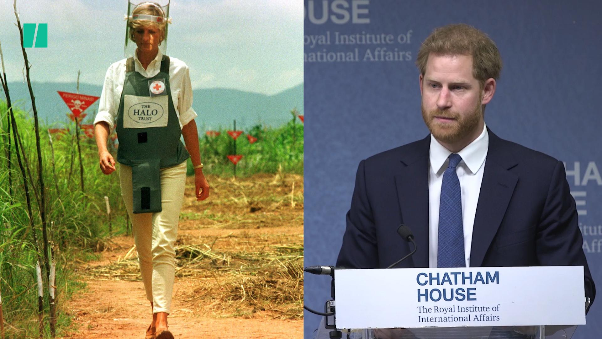 Prince Harry Continues Diana's Work Against Landmines