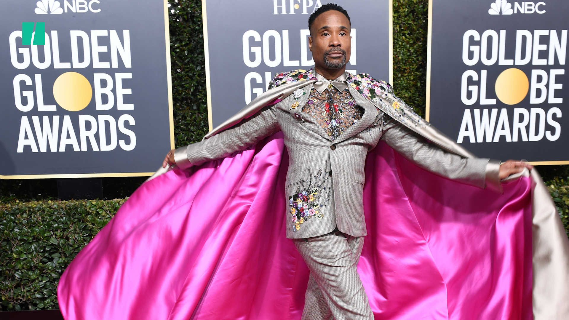 Billy Porter Is A Swan Queen With Massive Feather Train At 2020 Golden Globes