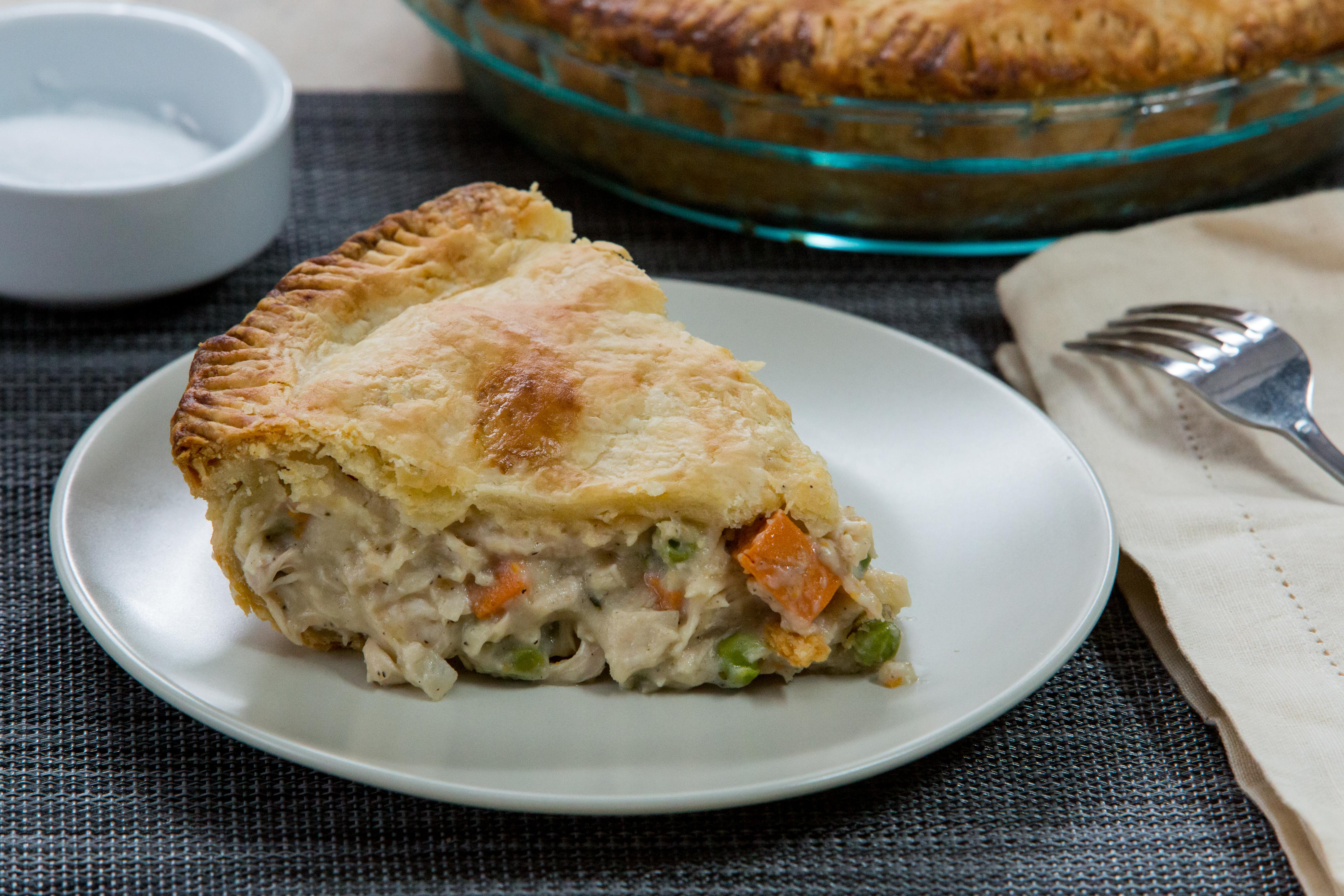 This easy chicken pot pie recipe is perfect for busy school nights