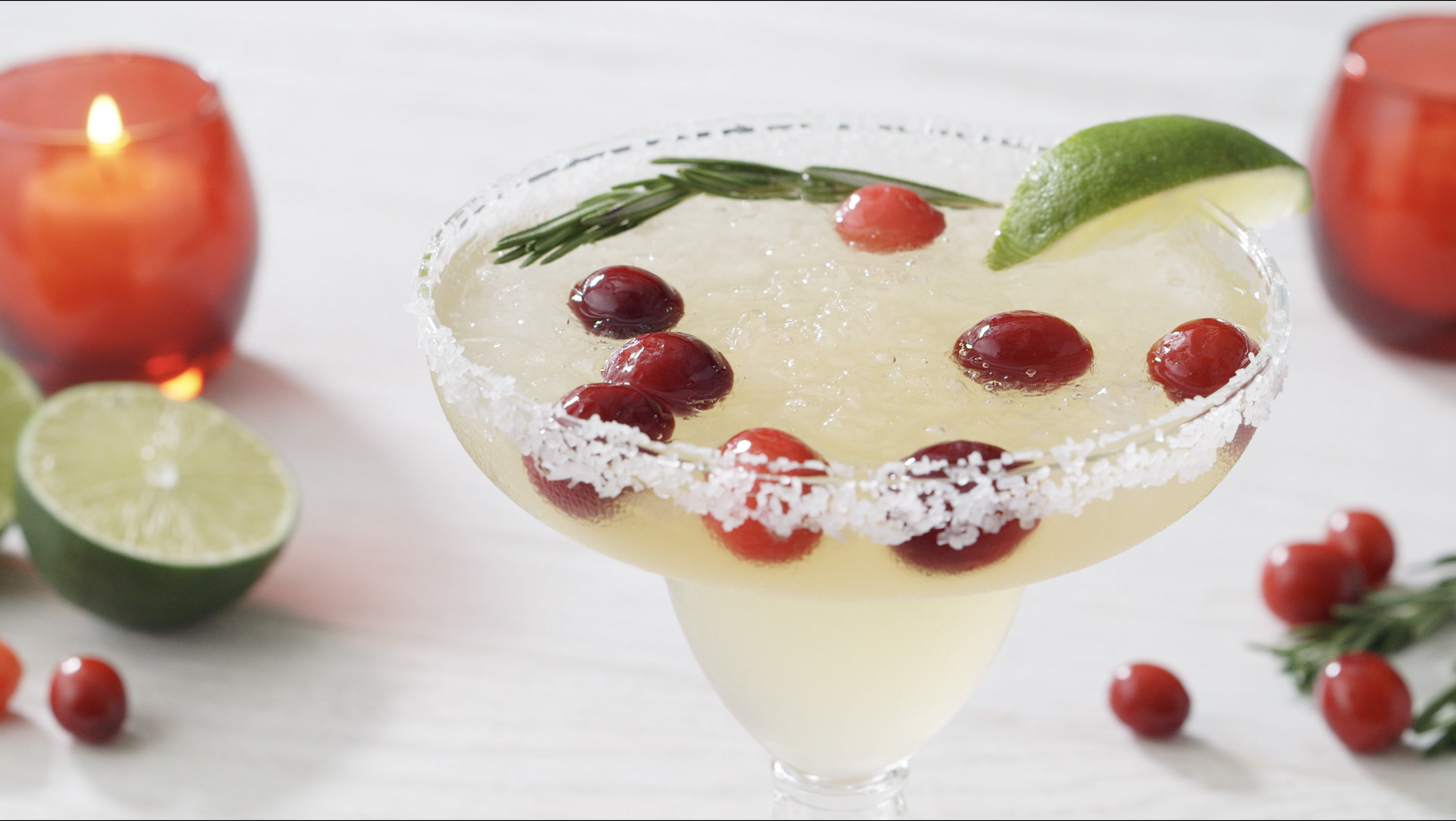 Ring in the holidays with a mistletoe margarita