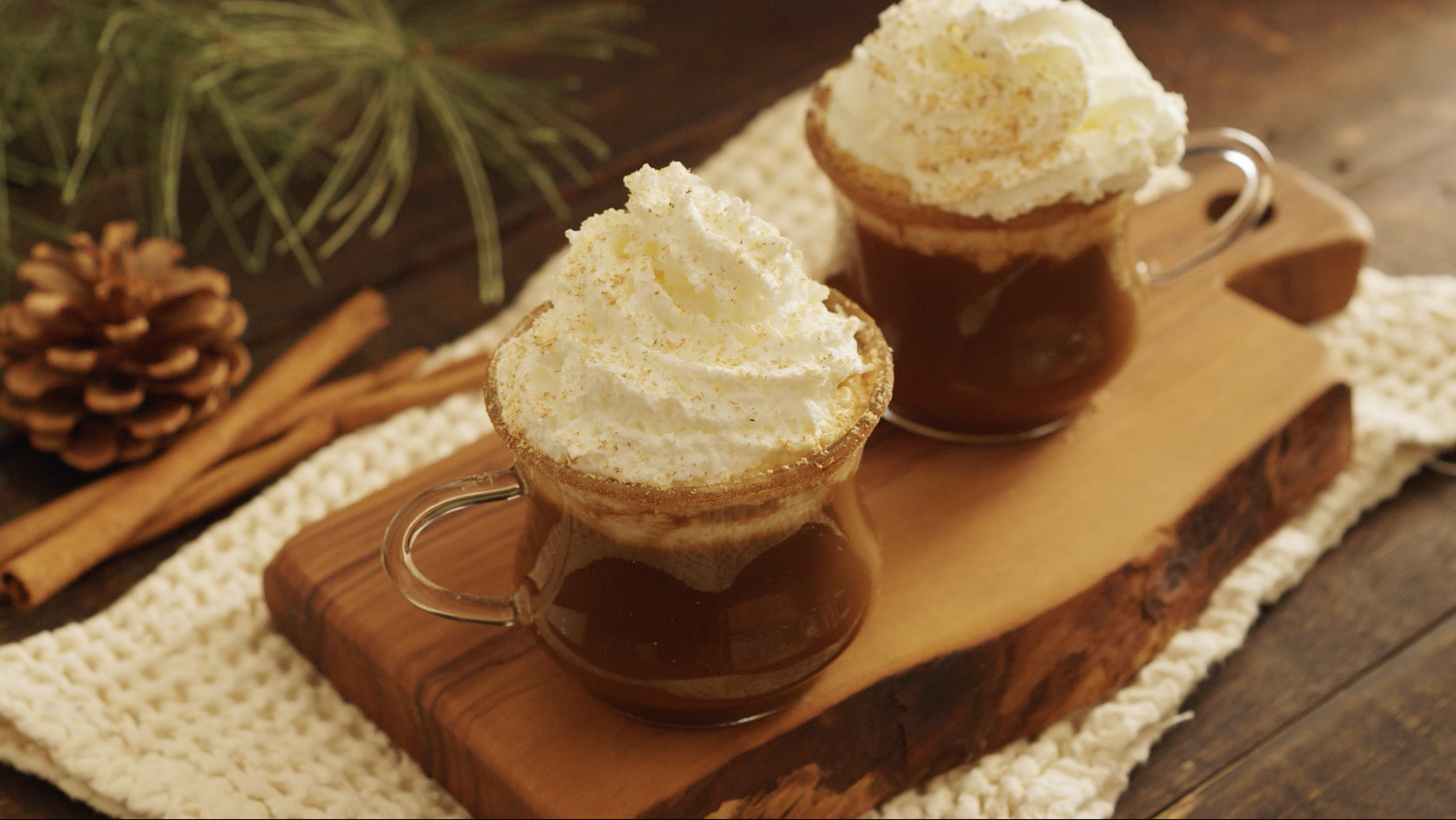 Ring in the holidays with this easy gingerbread eggnog cocktail