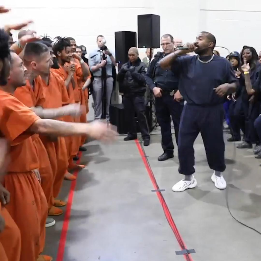 Kanye West gave a surprise performance of 'Jesus Is King' for inmates at a Texas prison