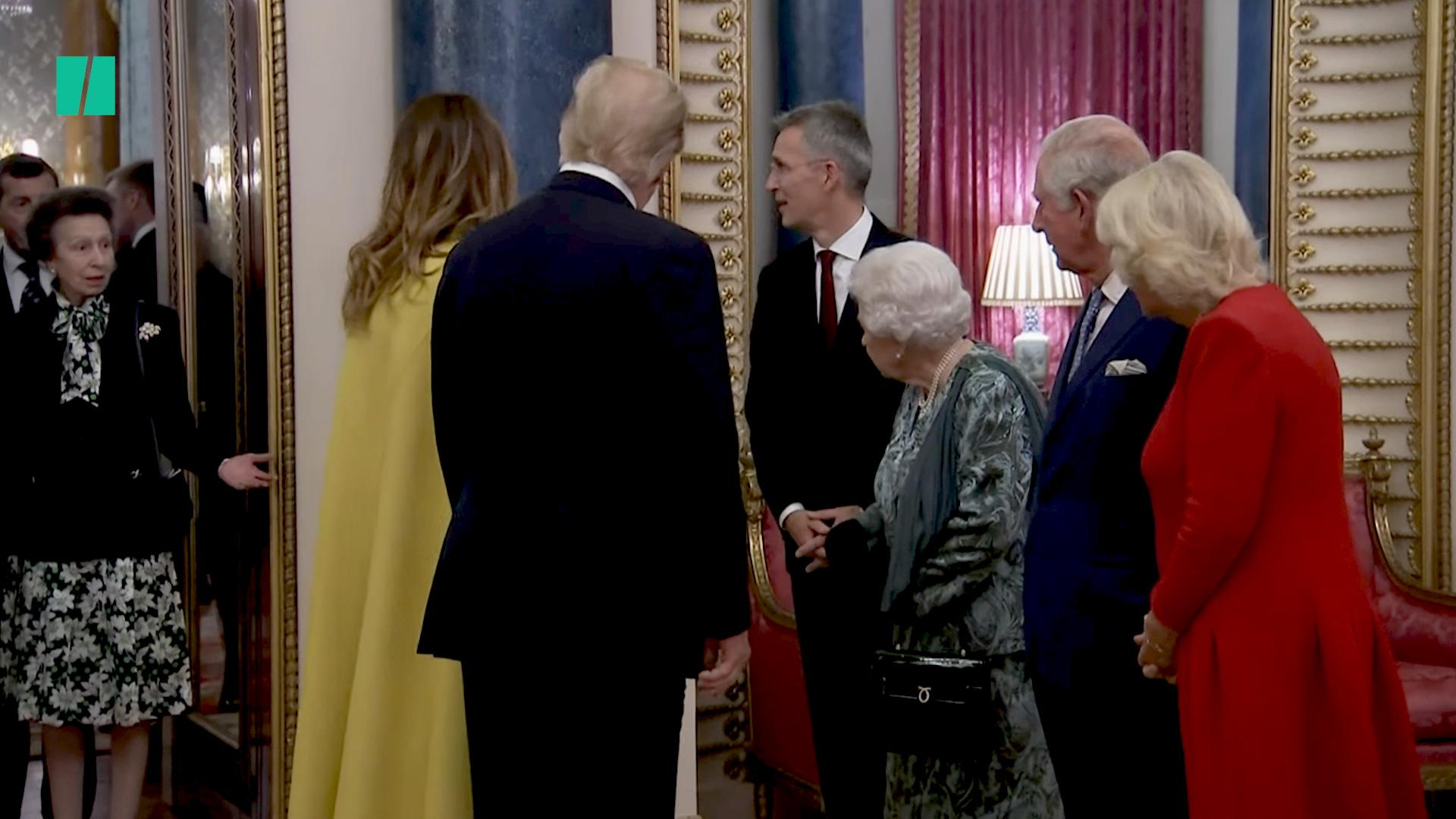Princess Anne Appears To Be Chastised By The Queen For Not Shaking Donald Trump's Hand