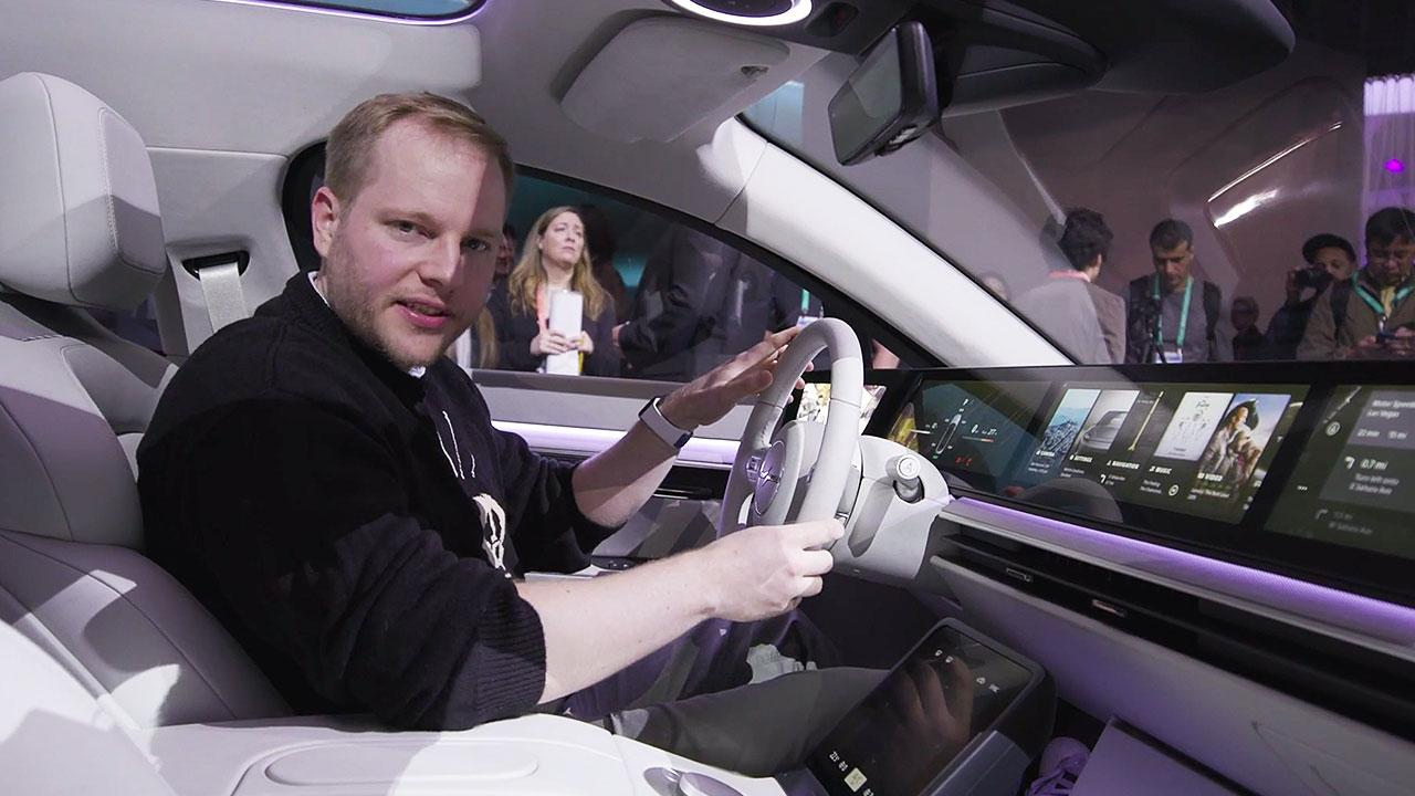 A dispatch from inside Sony's prototype electric car